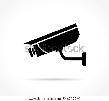 Illustration of video surveillance icon on white background