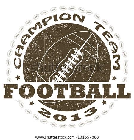 illustration of vintage american football label. sports logo element - stock vector