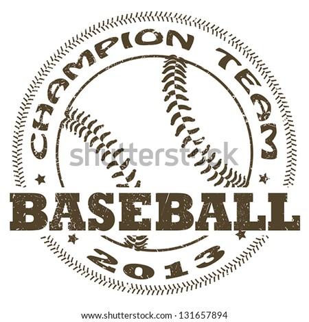 illustration of vintage baseball label. sports logo element - stock vector
