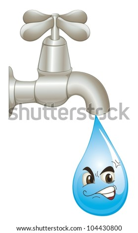 Illustration of wasted water concept - stock vector