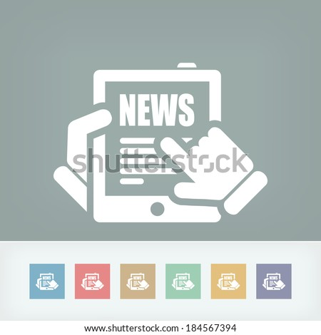 Illustration of web journal news icon - stock vector