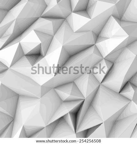 Illustration of white abstract background from polygon - stock vector