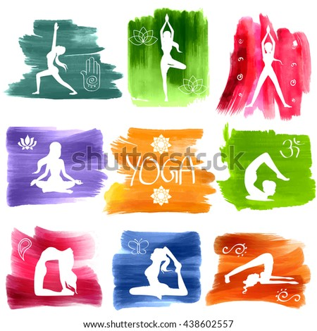 illustration of woman doing Yoga for International Yoga Day