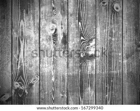 Illustration of Wooden Background in Black and White - stock vector