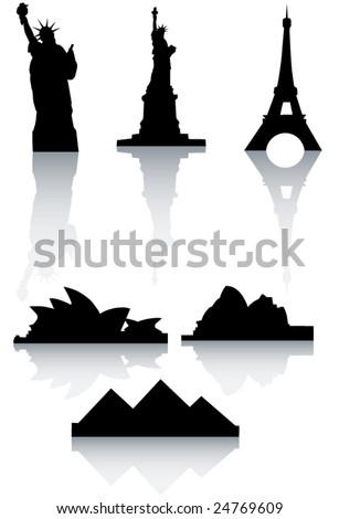 Illustration of world's monuments