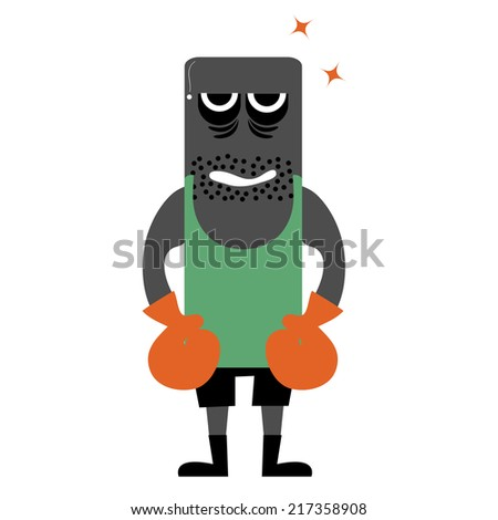 Illustration of zombie boxers - stock vector