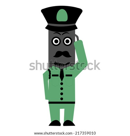 Illustration of zombie police - stock vector