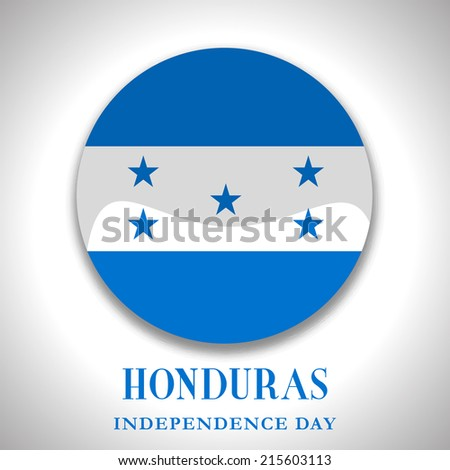 Illustration On Happy Independence day of Honduras