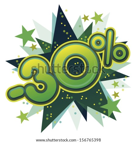 Illustration on promotional offers  - stock vector