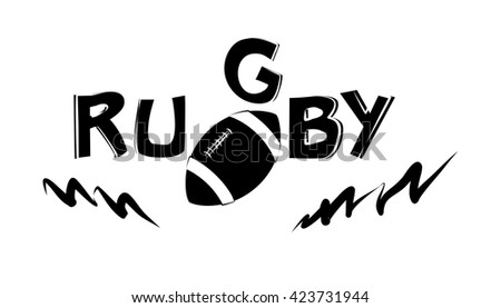 illustration on the theme of sport and a healthy lifestyle - rugby.