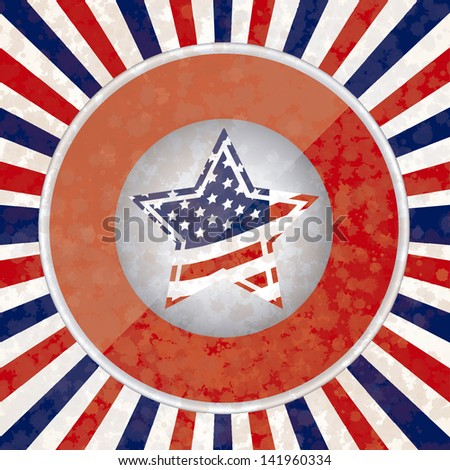 Illustration Patriotic United States of America, USA, vector illustration
