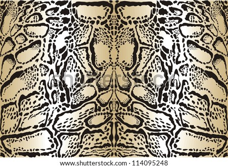 illustration pattern background skins clouded leopard - stock vector
