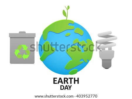 illustration planet earth energy conservation and recycling ECO