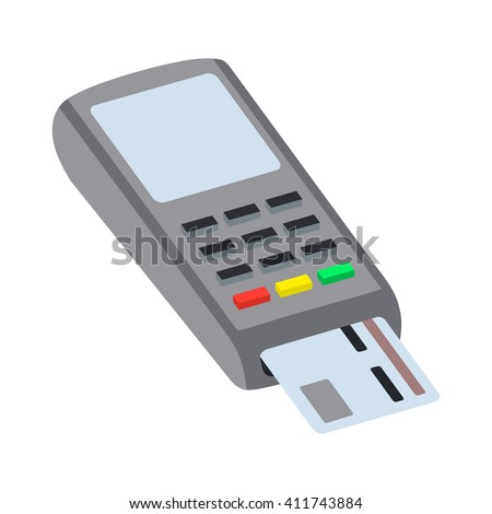Illustration pos machine or credit card terminal