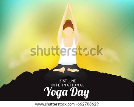 IllustrationPoster Or Banner Of International Yoga Day