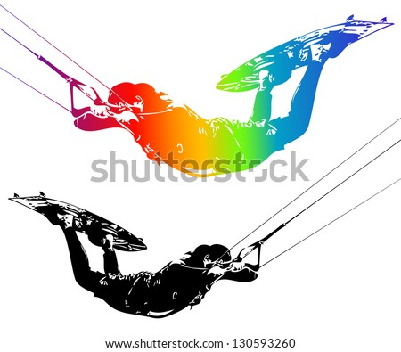 Illustration rider isolated on white background. Vector. - stock vector
