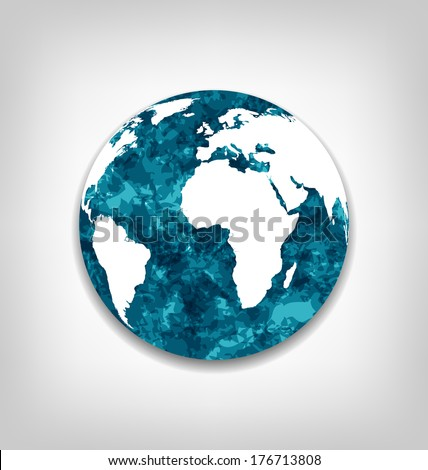 Illustration save the Earth from global warming - vector - stock vector