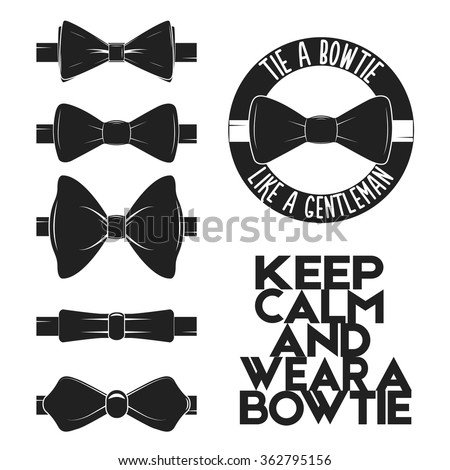 Illustration Set Bow Tie Vector On Stock Vector 362795156 ...