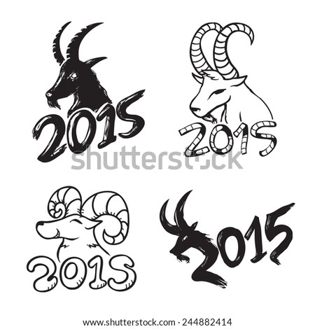 Illustration Set of Chinese New Year Goat