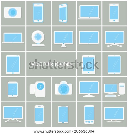 illustration set of vector flat icons