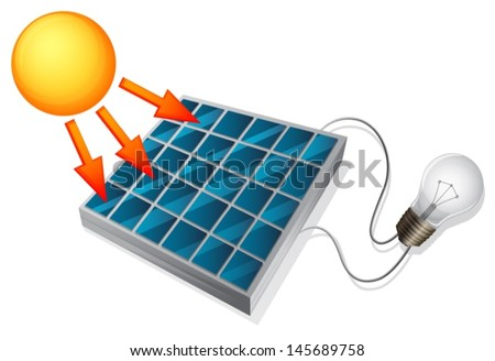 Illustration showing the solar cell concept - stock vector
