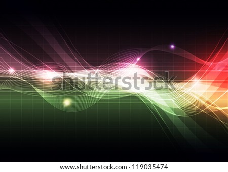 illustration signal technology, abstract background