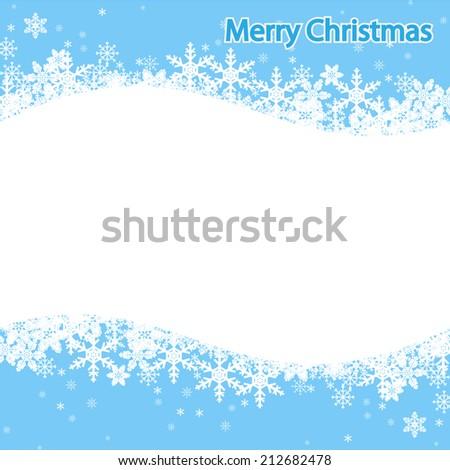 Illustration Snowflake, Christmas background. Vector. - stock vector