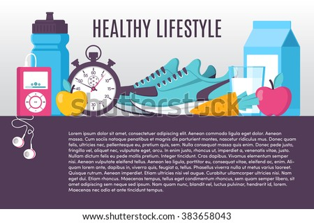 Illustration sport fitness healthy lifestyle