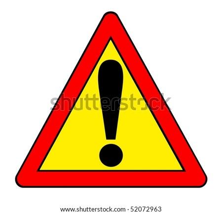 Illustration symbol danger - vector - stock vector