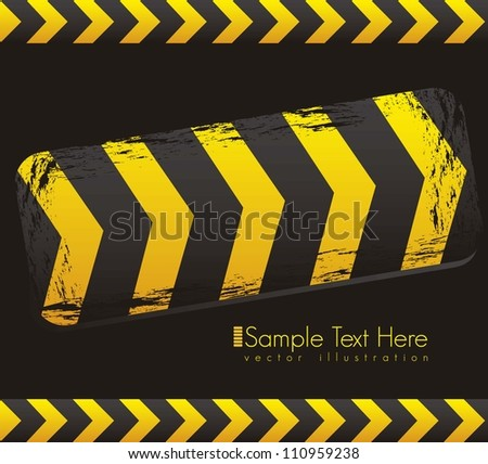 Illustration traffic tape, under construction, vector illustration - stock vector