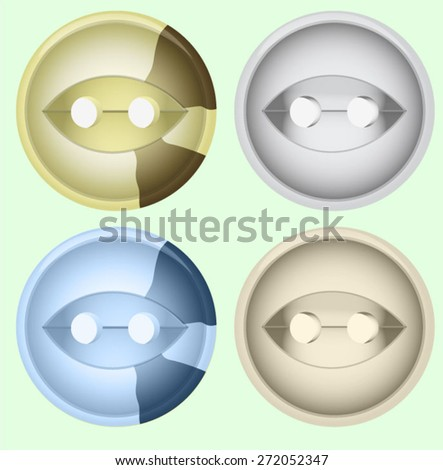 Illustration vector clothing buttons.