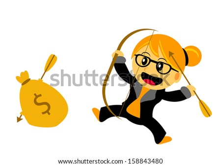 illustration vector graphic cartoon character of chibi women - stock vector