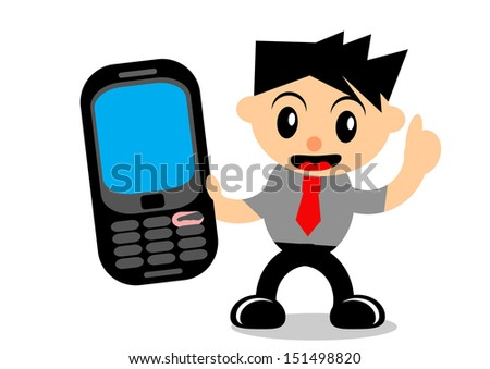 illustration vector graphic of cartoon character businessman in activity - stock vector