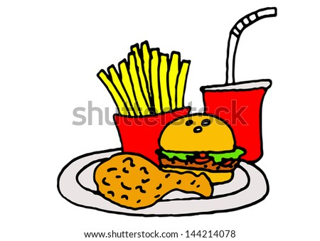 illustration vector graphic of junk food - stock vector