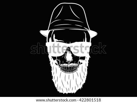 Illustration Vector Graphic Skull Pirate Hipster for the creative use in graphic design