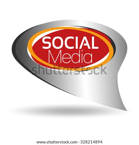 Illustration Vector Graphic Social Media for the creative use in graphic design