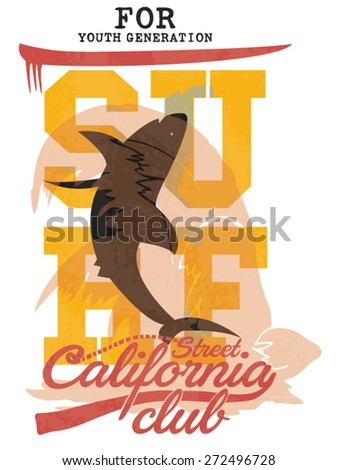 illustration vector handmade drawing surfing