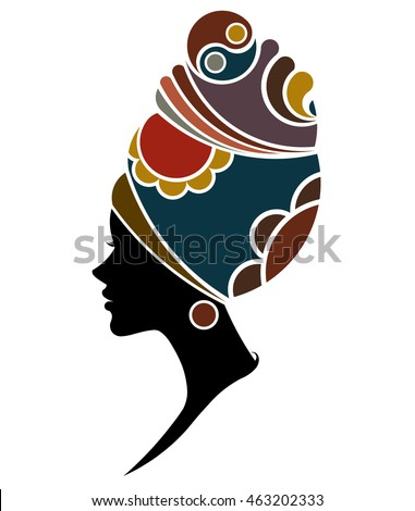 illustration vector of african women silhouette fashion models beautiful black women on white background