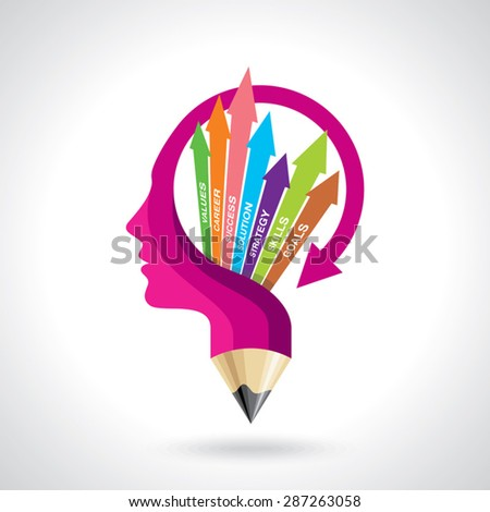 Illustration, vector of business mind - stock vector
