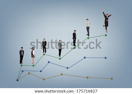 Illustration vector of business success concept.