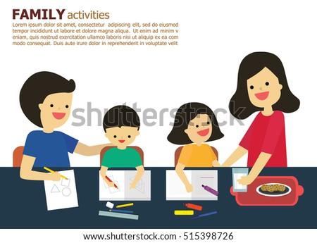 illustration vector fun family father mother stock vector 515398726 rh shutterstock com Student Clip Art School Clip Art