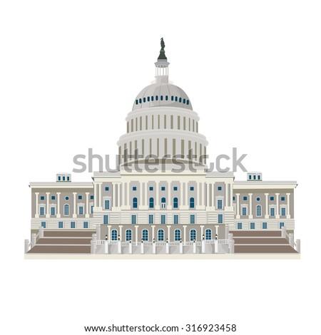 illustration. Washington DC  - stock vector