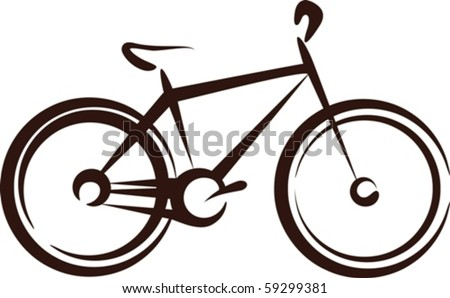 Illustration with a bike symbol - stock vector
