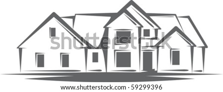 Illustration with a concept of real estate - stock vector
