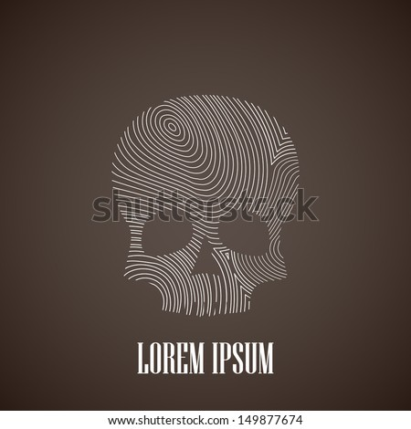 illustration with a skull - stock vector