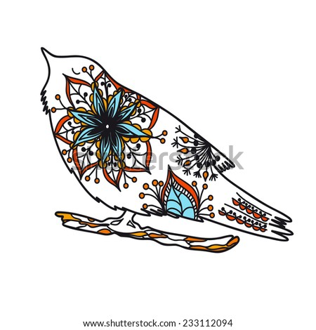 Illustration with abstract bird, vector  - stock vector