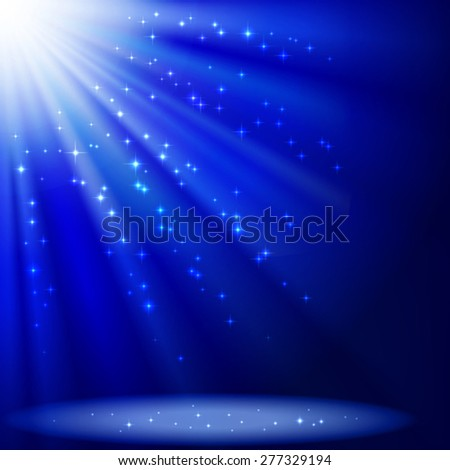 Illustration with blue abstract background.Mesh.This file contains transparency.Clipping Mask.  - stock vector