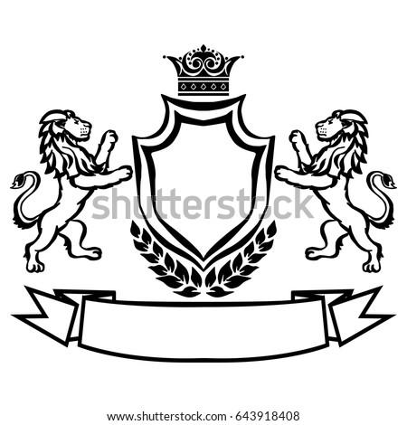 Coat Arms Shield Crown Key Arrow Stock Vector 332246729