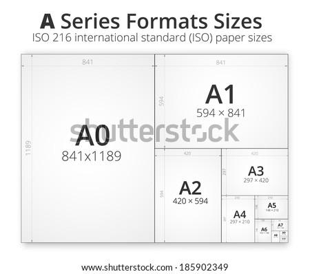 illustration comparison paper size format series stock. Black Bedroom Furniture Sets. Home Design Ideas