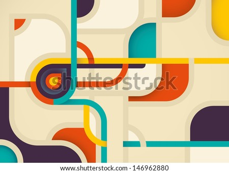 Illustration with modish abstraction. Vector illustration. - stock vector